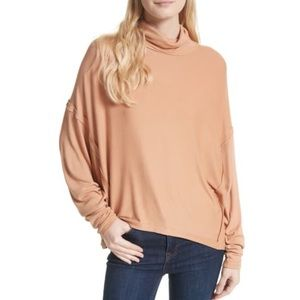 Free People Alameda Turtleneck Dolman Sleeve Top